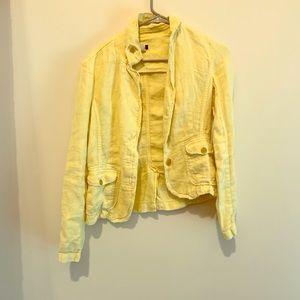 J.Crew Yellow Linen Jacket